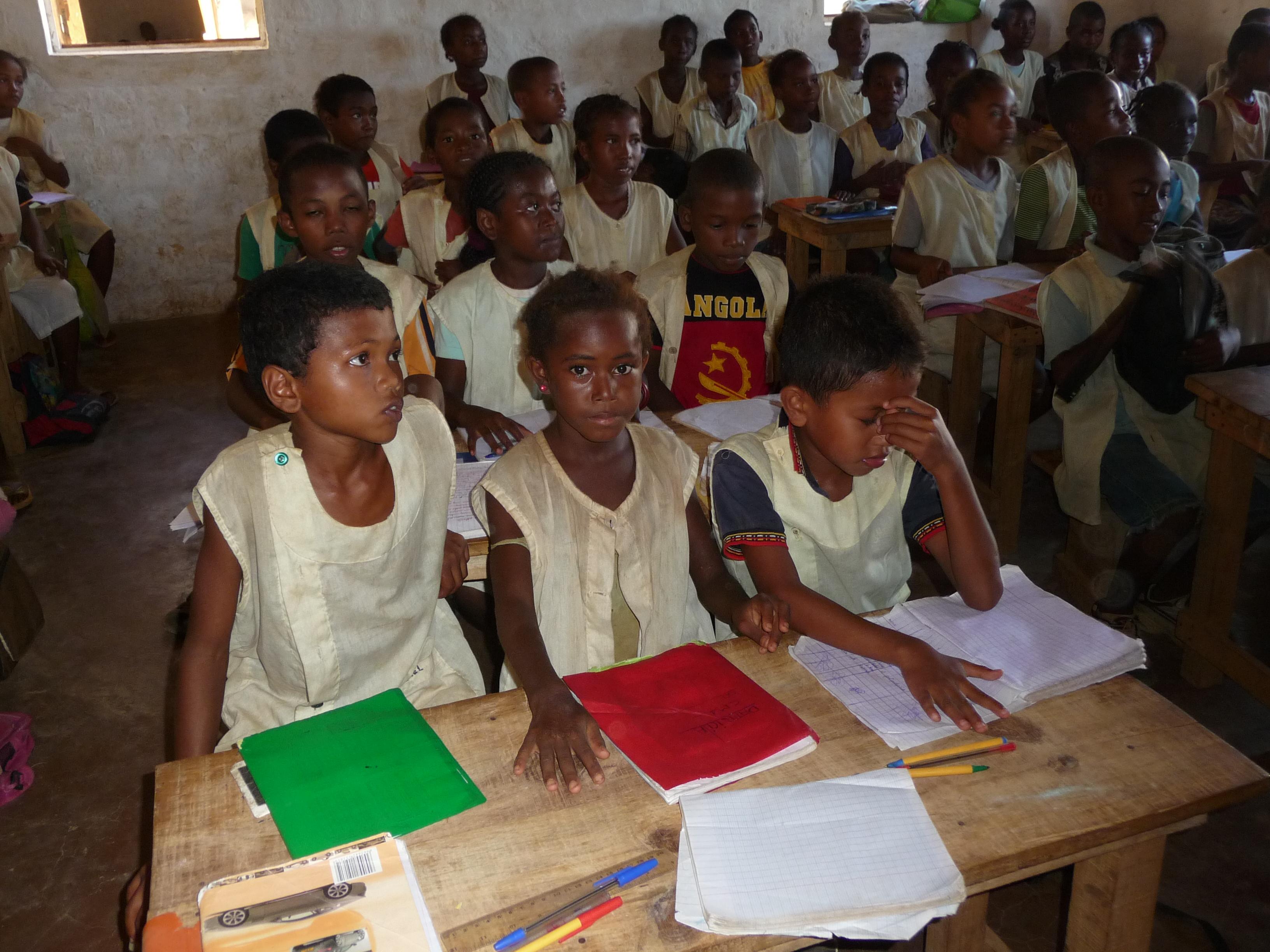 Les cours à Madagascar