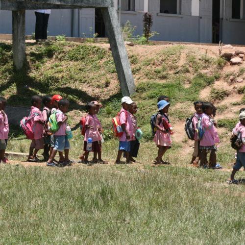 Classe d'une école de Madagascar